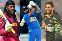 India Vs West Indies Rohit Sharma Joins Afridi And Gayle In List Of Six Hitters