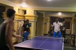 India Vs West Indies Shivam Dube Jason Holder Play Table Tennis