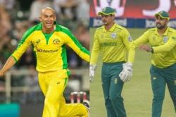 Ashton Agar S Hat Trick Helps Australia Thrash South Africa By 107 Runs In 1st T20i