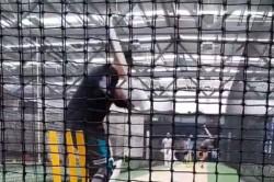 Ricky Ponting Brian Lara Bring Out Cuts Pulls Flicks At Nets