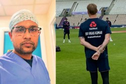 England Cricket Team Honours Indian Origin Doctors
