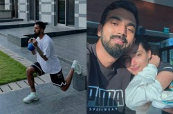 Kl Rahul Shares Workout Pics On Instagram And Athiya Shetty Reacts