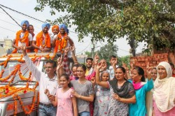 Hockey Players From Punjab Haryana Get Rousing Welcome On Returning Home